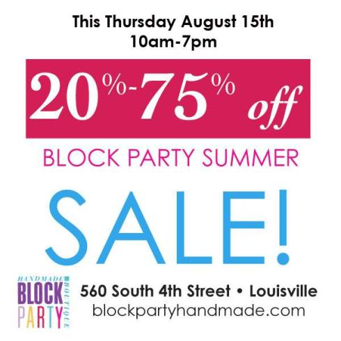 Block Party's First Sale!