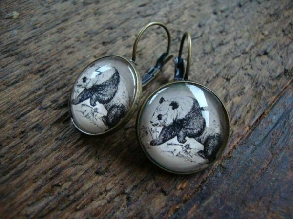 Irma Bean panda earrings